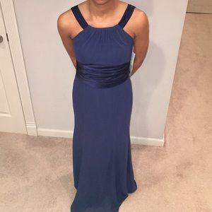 Navy blue long flowy dress